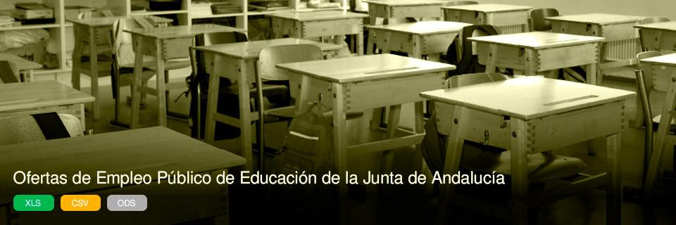 Ofertas de Empleo Público de Educación de la Junta de Andalucía