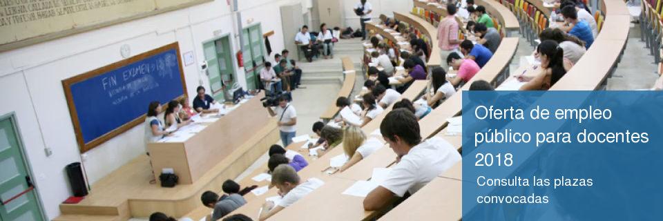 Oferta de empleo público para docentes 2018