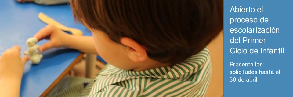 Abierto el proceso de escolarización del Primer Ciclo de Infantil