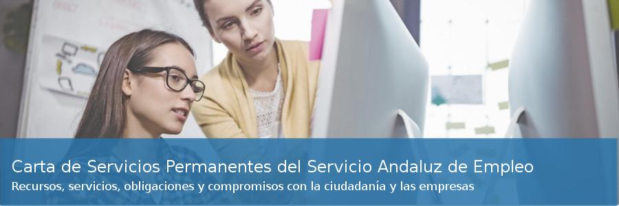 Carta de Servicios Permanentes del Servicio Andaluz de Empleo