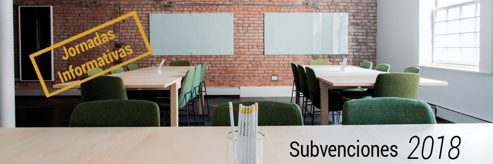 Jornadas Informativas Subvenciones 2018