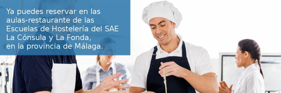 Solicitud de reserva en las aulas-restaurante de las Escuelas de Hostelería del Servicio Andaluz de Empleo