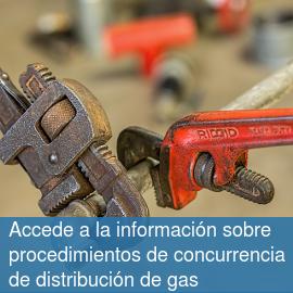 Accede a la información sobre procedimientos de concurrencia de distribución de gas