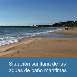 Situación sanitaria de las aguas de baño marítimas