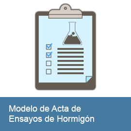 Modelo de Acta de Ensayos de Hormigón