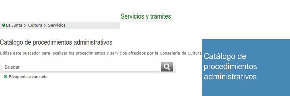 Catálogo de procedimientos administrativos