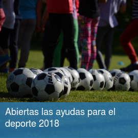 Abiertas las ayudas para el deporte de 2018