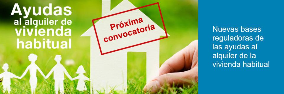 Nuevas bases reguladoras de las ayudas al alquiler de la vivienda habitual