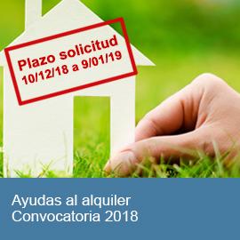 Ayudas al alquiler. Convocatoria 2018