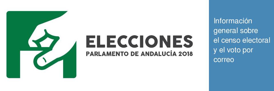 Información elecciones Parlamento de Andalucía 2018