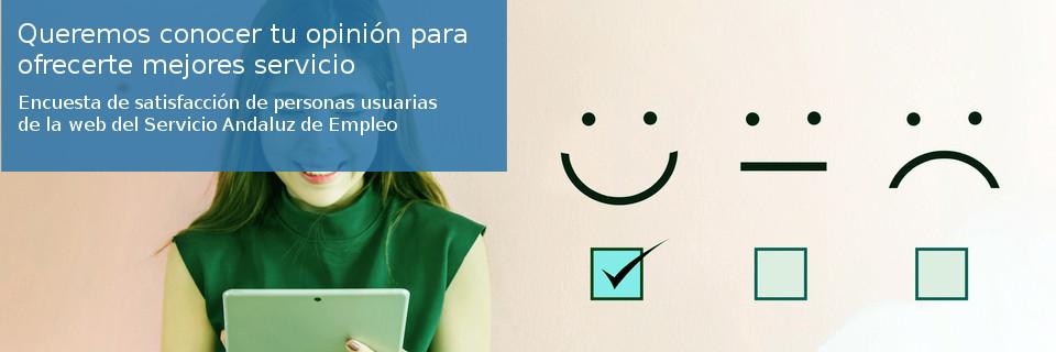Encuesta para personas usuarias de la web del Servicio Andaluz de Empleo