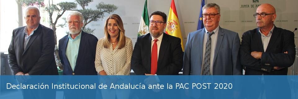 Declaración Institucional de Andalucía ante la PAC POST 2020