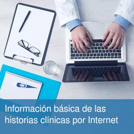 Información básica de las historias clínicas por Internet