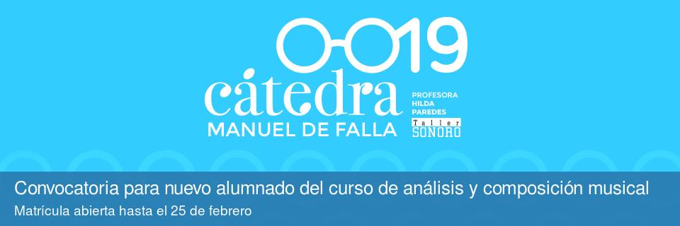 Cátedra Manuel de Falla 2019