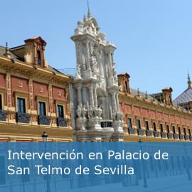 Intervención en Palacio de San Telmo de Sevilla