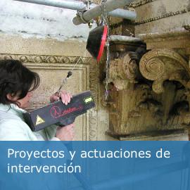 Proyectos y actuaciones de intervención