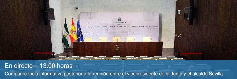 En directo a las 13:00 - Comparecencia informativa posterior a la reunión entre el vicepresidente de la Junta y el alcalde Sevilla