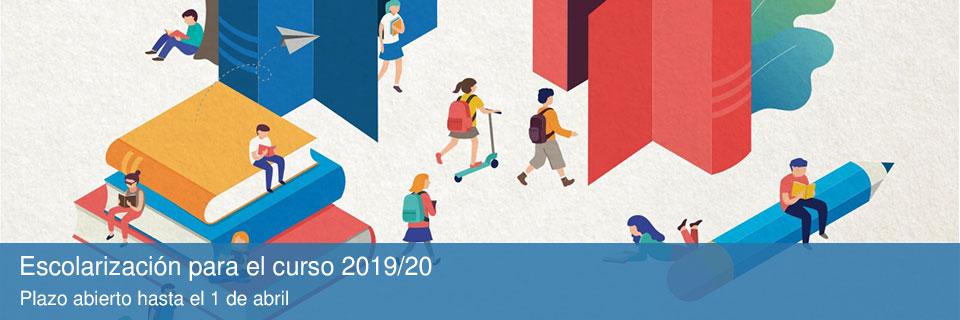 Escolarización para el curso 2019/20: Plazo abierto hasta el 1 de abril