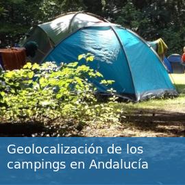 Geolocalización de los campings en Andalucía