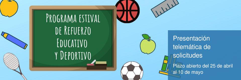 Programa de Refuerzo Educativo y Deportivo en periodo estival