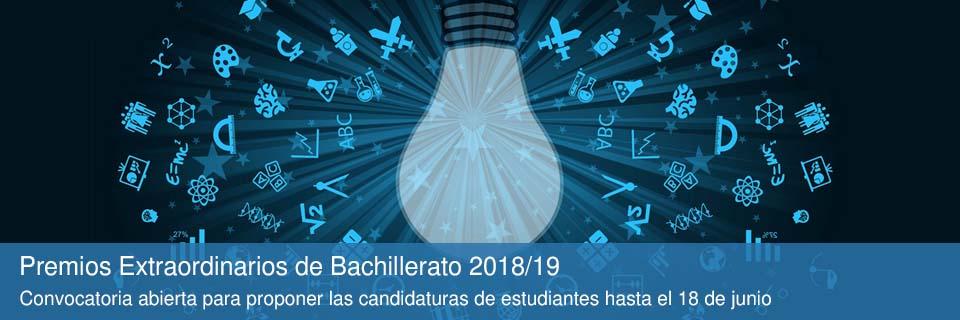 Premios Extraordinarios de Bachillerato 2018/19