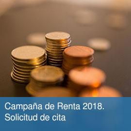 Campaña de Renta 2018. Solicitud de cita