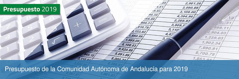 Presupuesto de la Comunidad Autónoma de Andalucía para 2019