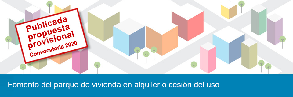 Programa de fomento del parque de vivienda en alquiler o cesión del uso