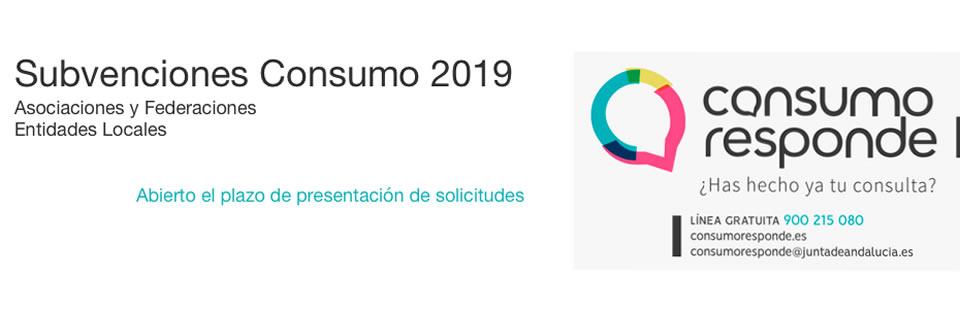 Subvenciones Consumo 2019