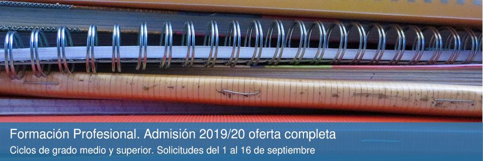 Formación Profesional. Admisión 2019/20 oferta completa