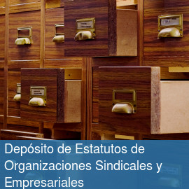 Depósito de Estatutos de Organizaciones Sindicales y Empresariales