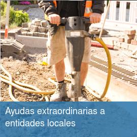 Ayudas extraordinarias a entidades locales para catástrofes naturales y situaciones de emergencia