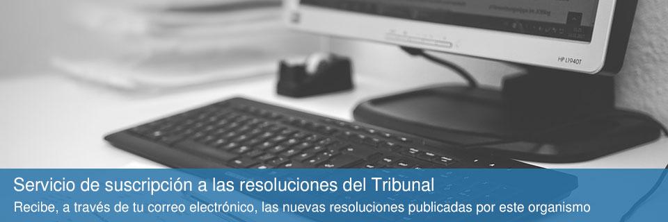Servicio de suscripción a las resoluciones del Tribunal Administrativo de Recursos Contractuales