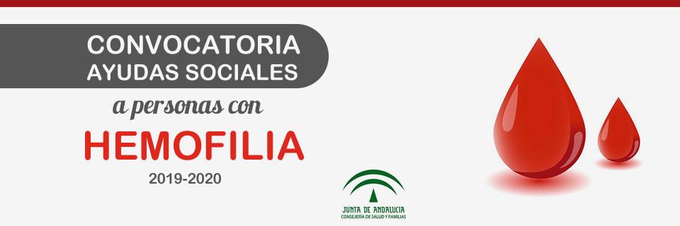Nueva convocatoria de Ayudas Sociales a personas con hemofilia 2019-2020