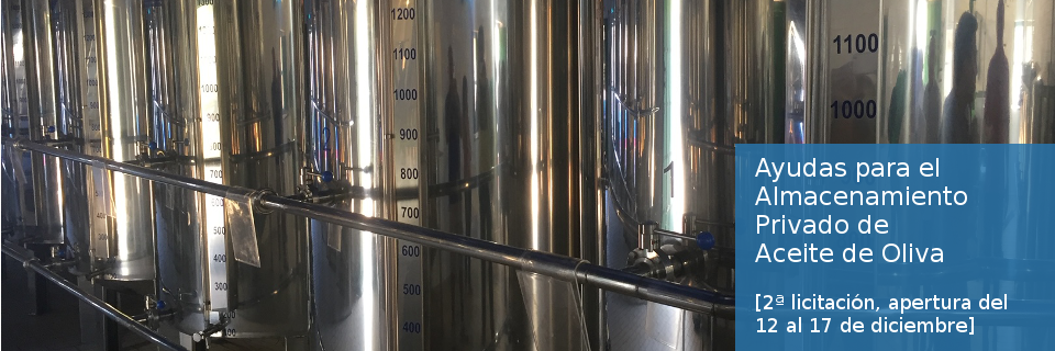 Almacenamiento privado de aceite de oliva 2019