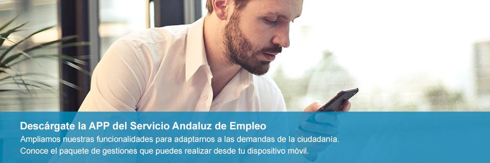 Descárgate la nueva App del Servicio Andaluz de Empleo