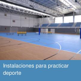 Instalaciones para practicar deporte