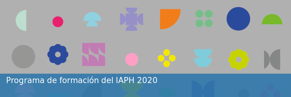 Programa de Formación del IAPH 2020