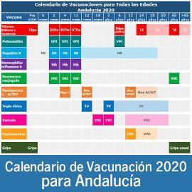 Calendario de Vacunación 2020 para Andalucía