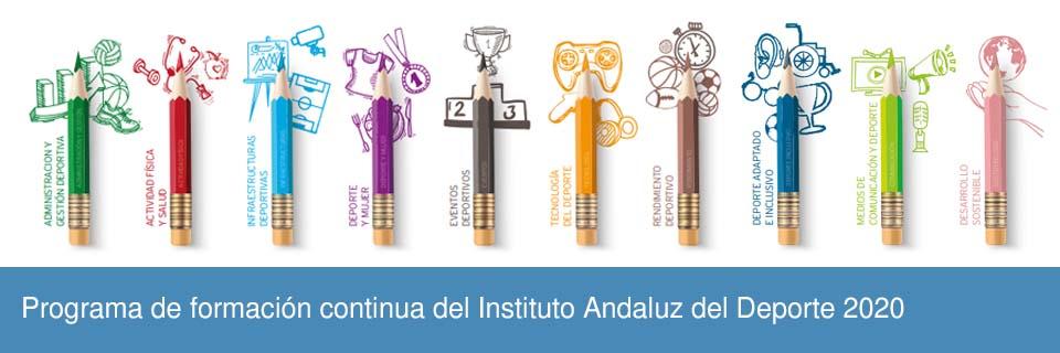 Programa de formación continua del Instituto Andaluz del Deporte 2020