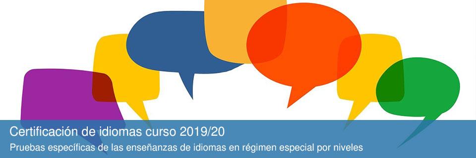 Certificación de idiomas curso 2019/20