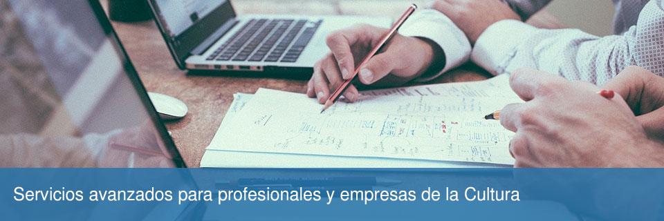 Servicios avanzados para profesionales y empresas de la Cultura