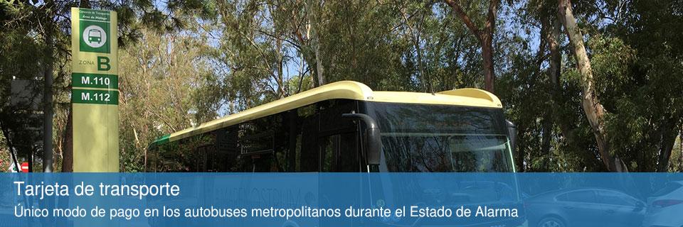 Tarjeta de transporte autobuses Málaga durante coronavirus