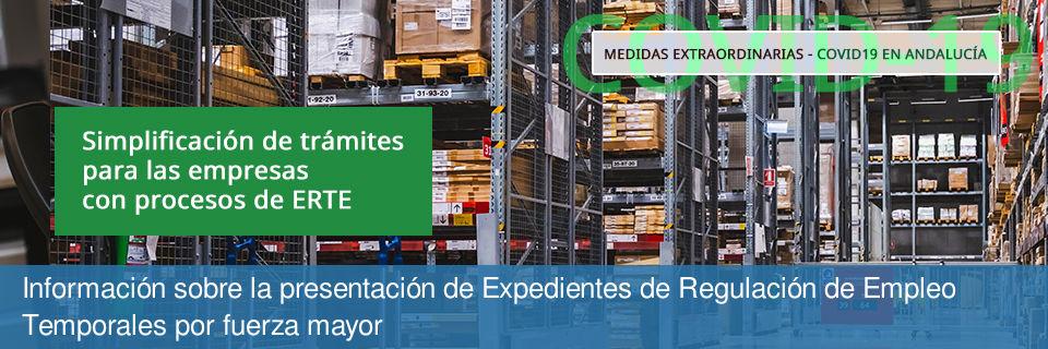 Información sobre la presentación de Expedientes de Regulación de Empleo (ERTE) motivados por la pandemia del COVID-19