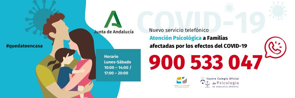 Teléfono de Atención Psicológica a Familias. COVID-19