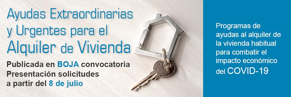 Ayudas extraordinarias al alquiler de la vivienda habitual con motivo del COVID-19