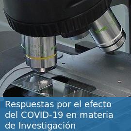 Respuestas por el efecto del COVID-19 en materia de Investigación