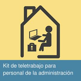 Kit de teletrabajo para personal de la administración