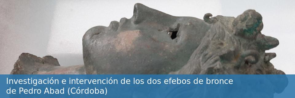 Investigación e intervención de los dos efebos de bronce de Pedro Abad (Córdoba)