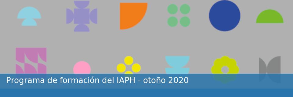 Programa de formación del IAPH - otoño 2020